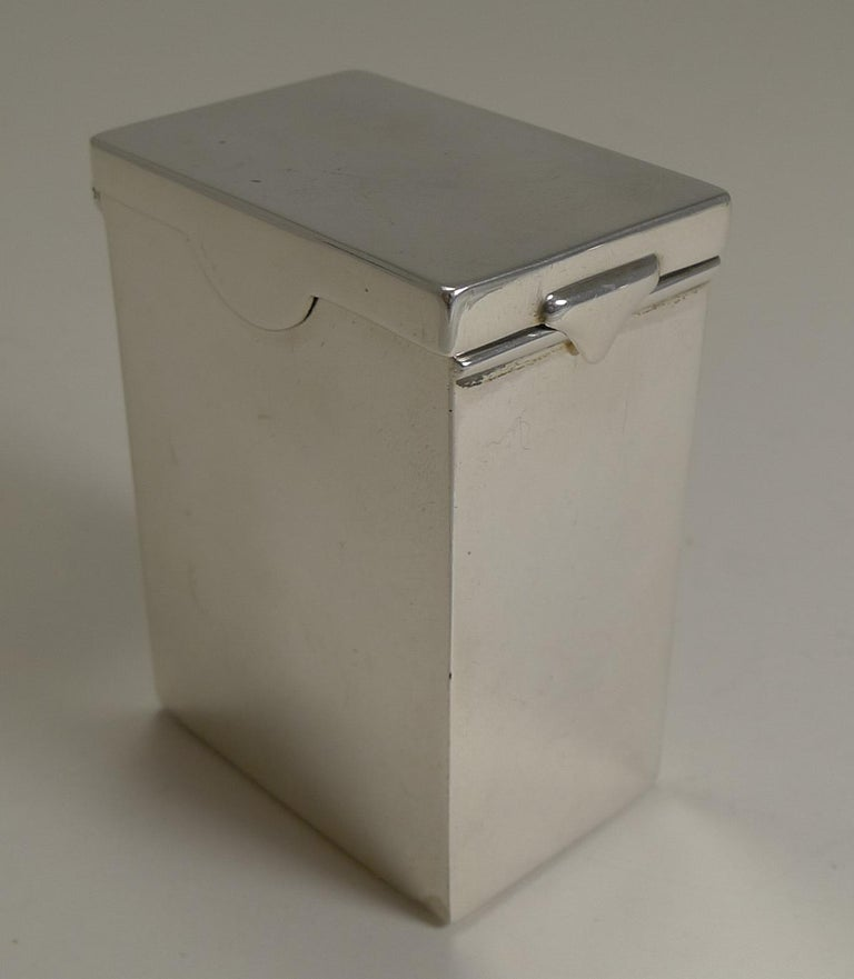 A fabulous late Victorian playing card box made from solid sterling silver fully hallmarked for the London assay office and the year 1899; the makers initials are also present for the silversmith, William & George Neal.  This simple and stylish