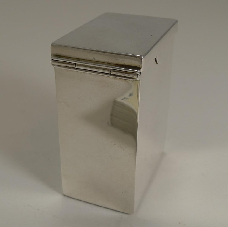 Late Victorian English Victorian Sterling Silver Playing Card Box, 1899