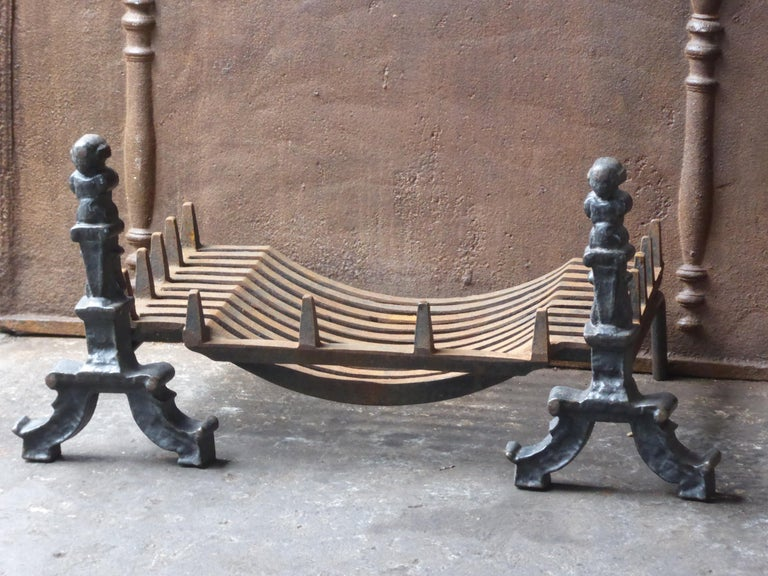 Cast English Victorian Style Fireplace Grate, Fire Grate