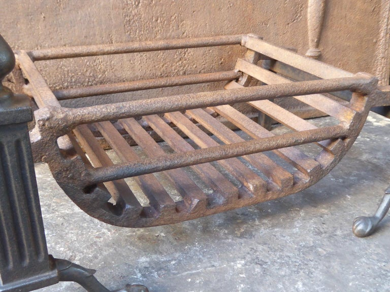 20th Century English Victorian Style Fireplace Grate, Fire Grate For Sale