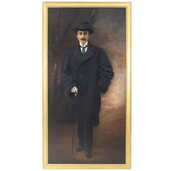 English Victorian Style Portrait of a Gentleman, Lucia Tarditi, 1913