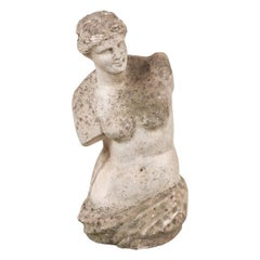 English Vintage Carved Stone Figure of Venus de Milo