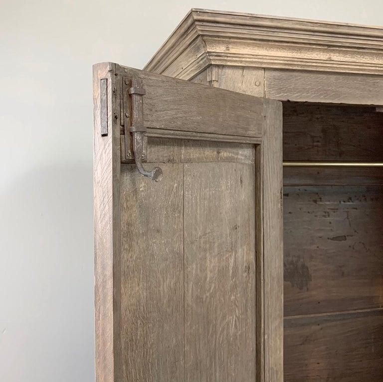 English Wardrobe, 19th Century Stripped Oak 5