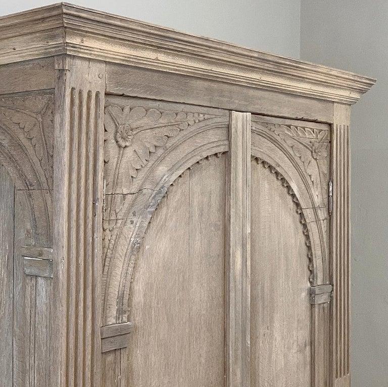English Wardrobe, 19th Century Stripped Oak 7