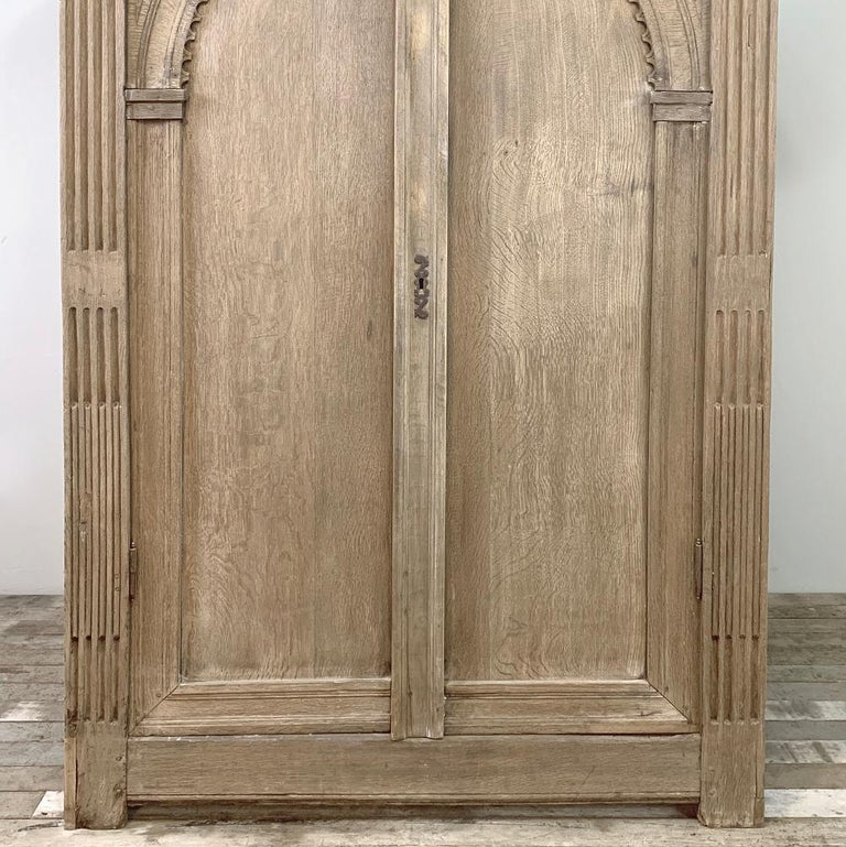 English Wardrobe, 19th Century Stripped Oak 2
