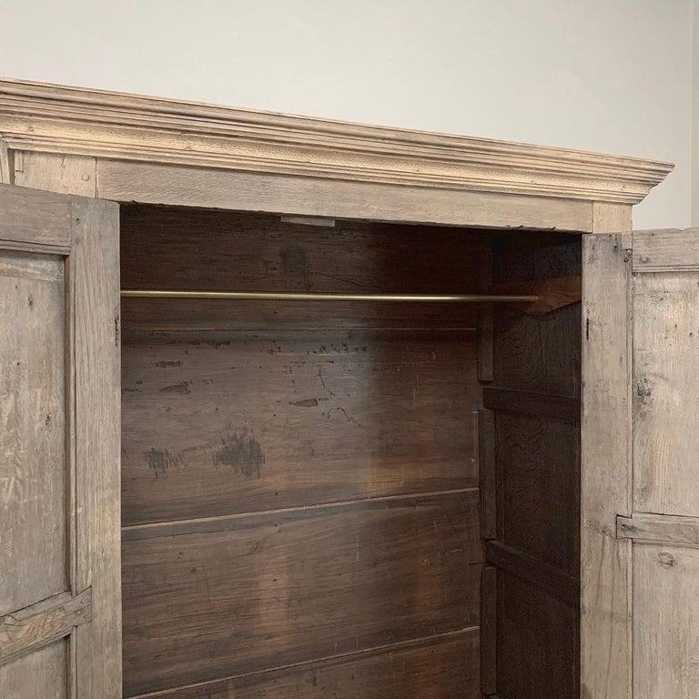 English Wardrobe, 19th Century Stripped Oak 4