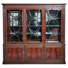 English Wardrobe Showcase 'Vitrine' 20th Century in Mahogany Wood