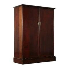 English Wardrobe Wood Veneer, First Half of the 1900s