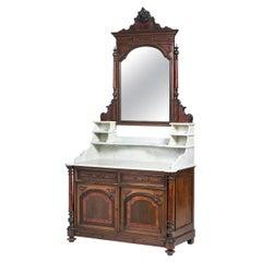 English Washbasin Dresser, 19th Century