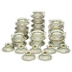 English Wedgwood 50-Piece Set Appledore Fine China Cups & Saucers, Pattern W3257