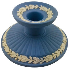 English Wedgwood Jasperware Pale Blue Candle Stand or Stick
