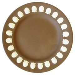 English Wedgwood Matte Jasperware Dish with Scallop Seashell Design