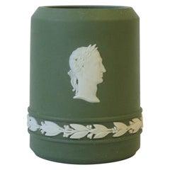 English Wedgwood Matte Jasperware Vessel in a Neoclassical Design