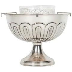 English Weighted Sterling Silver Caviar Dish Service