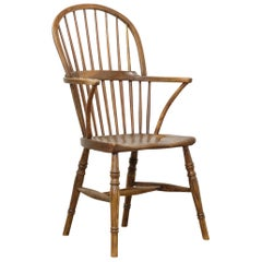 English West Country Windsor Chair, Simple Stick Back, Elm and Ash, Georgian
