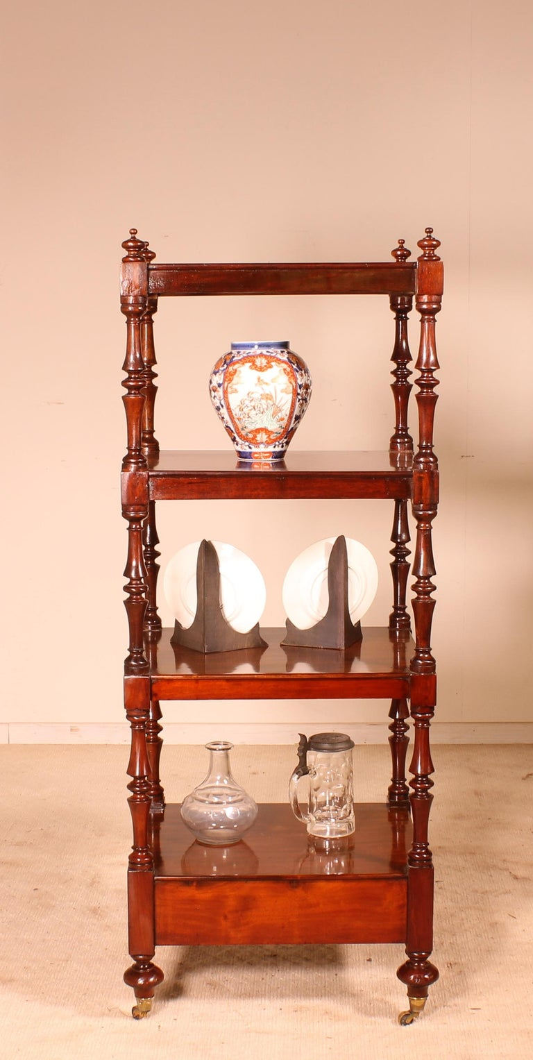English Whatnot 19th Century in Mahogany For Sale 1