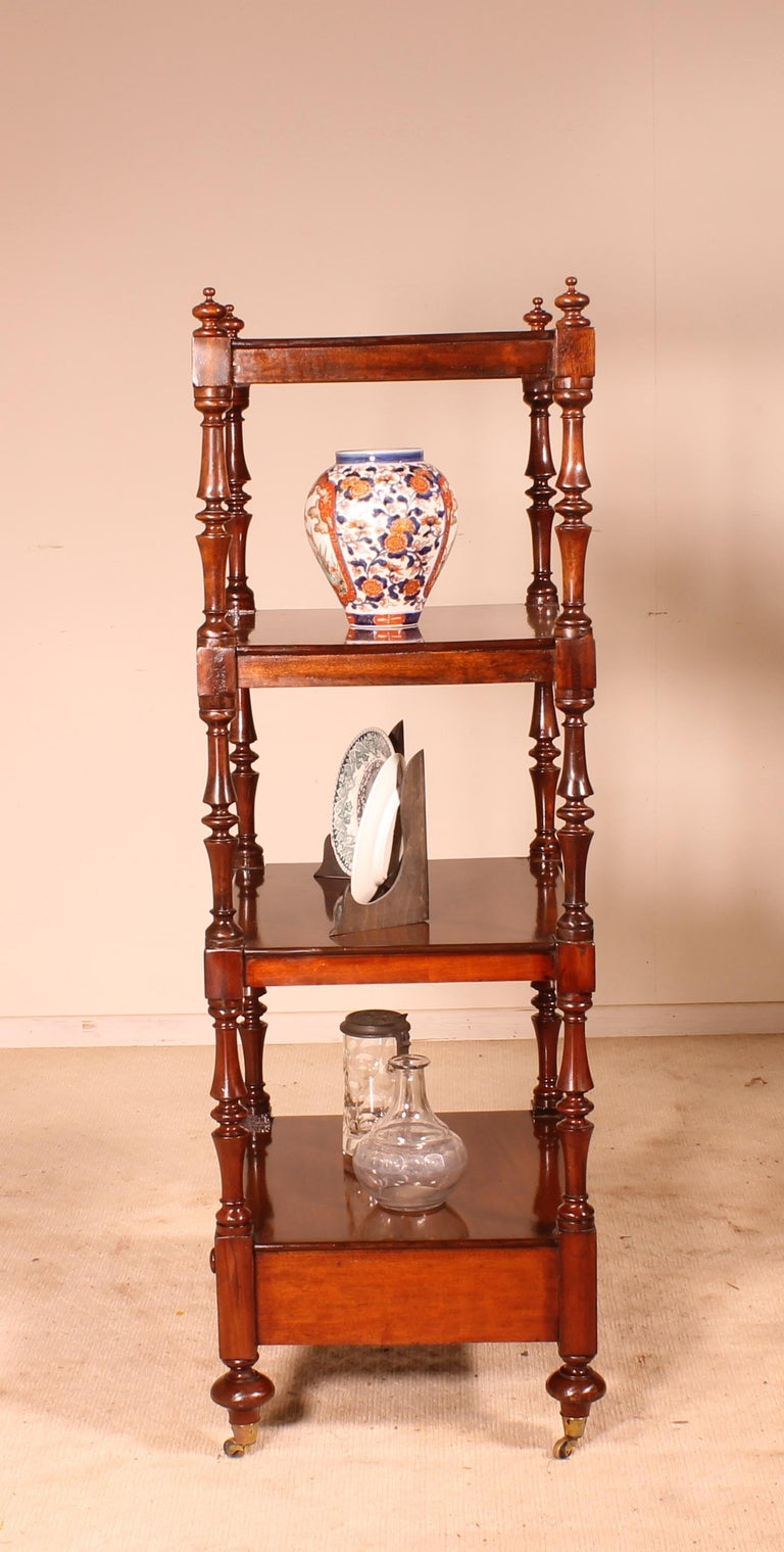 English Whatnot 19th Century in Mahogany For Sale 2