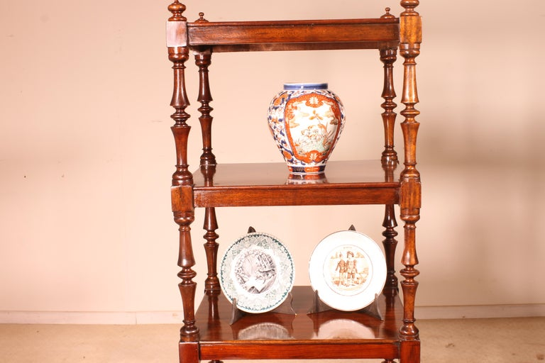 English Whatnot 19th Century in Mahogany For Sale 4