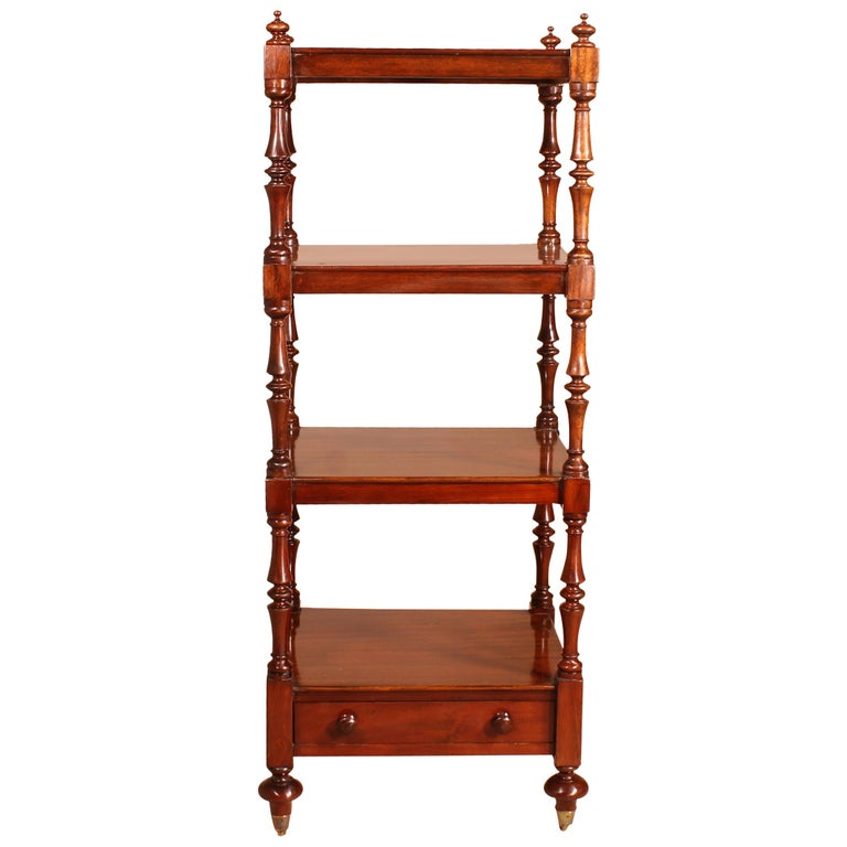 English Whatnot 19th Century in Mahogany For Sale