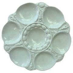 English White Majolica Oyster Plate Arthur Wilkinson, circa 1910