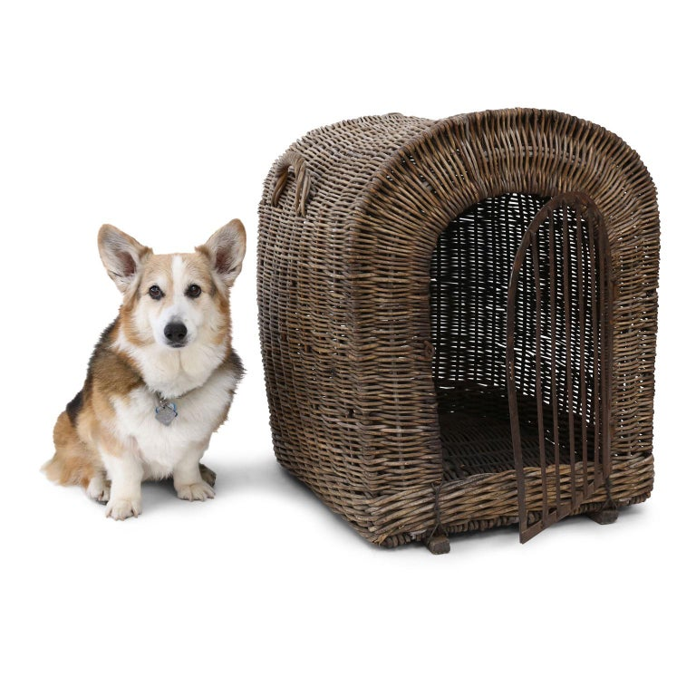 English Brown Wicker Dog Kennel Basket For Sale 7
