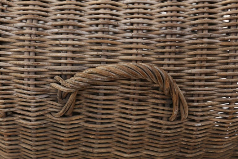 English Brown Wicker Dog Kennel Basket For Sale 1