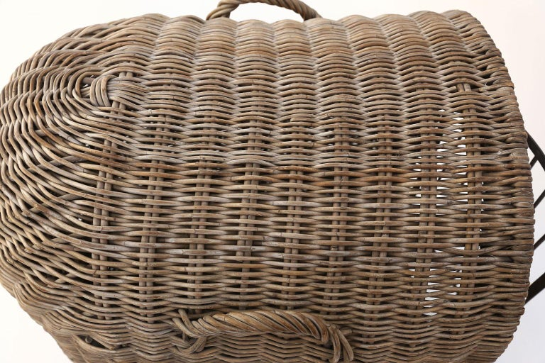 English Brown Wicker Dog Kennel Basket For Sale 2