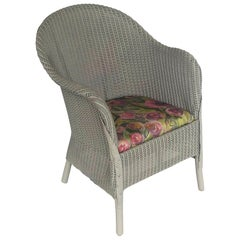English Wicker Garden or Lounge Chair by Lloyd Loom