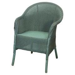 English Wicker Garden or Lounge Chair by Lloyd Loom