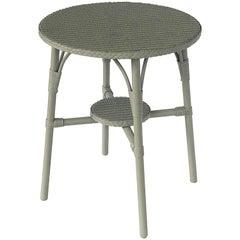 English Wicker Garden Round Occasional Table by Lloyd Loom