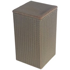English Wicker Garden Square Linen Hamper by Lloyd Loom