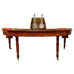 English William IV Hunt Table w/ Brass Swivel Decanter Holder