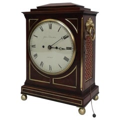 English William IV Mahogany Bracket Clock with Pull Repeat Action