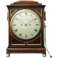 English William IV Mahogany Bracket Clock with Pull Repeat Action