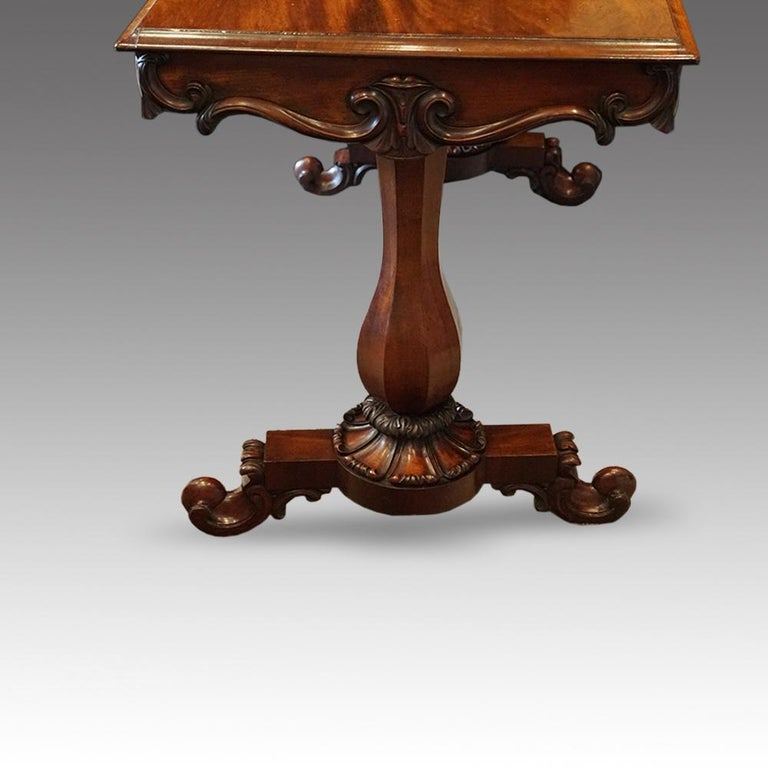 English William IV Mahogany Gentlemans Country House Library Table, circa 1830 For Sale 1