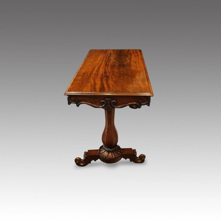English William IV Mahogany Gentlemans Country House Library Table, circa 1830 For Sale 2