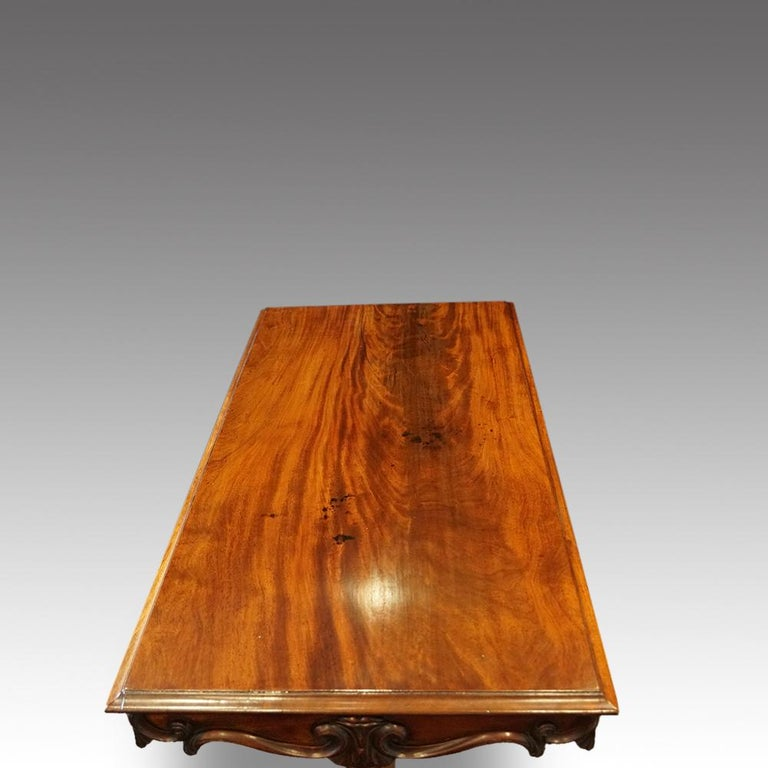 English William IV Mahogany Gentlemans Country House Library Table, circa 1830 For Sale 5