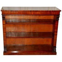 English William IV Period Mahogany Bookcase with Adjustable Shelves