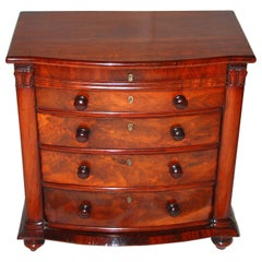 English William IV Period Mahogany Dwarf Chest of Drawers Suitable for Jewelry