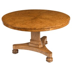 English William IV Period Pollard Oak Center Table, circa 1835