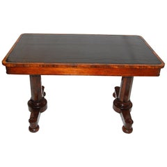 English William IV Period Rosewood Pedestal Writing Table