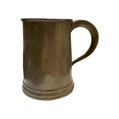 English William IV Pewter Tankard, Marked, circa 1830