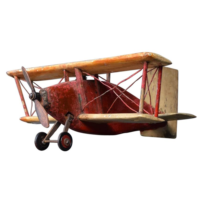 English Windjammer Folk Art Plane, circa 1930