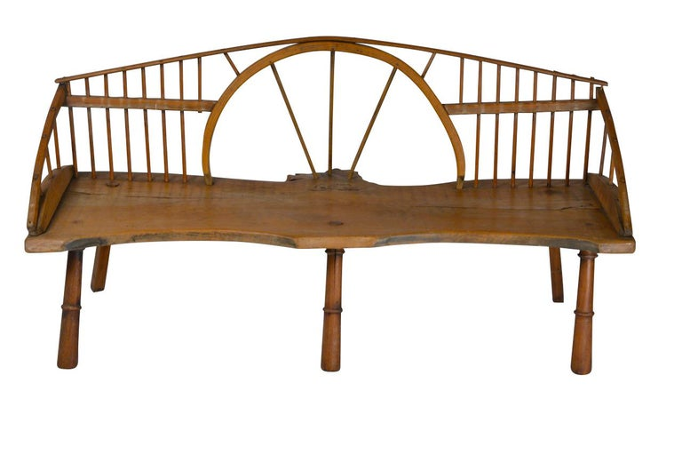 English Windsor Style Bench, circa 1890 In Good Condition For Sale In Sint-Kruis, BE