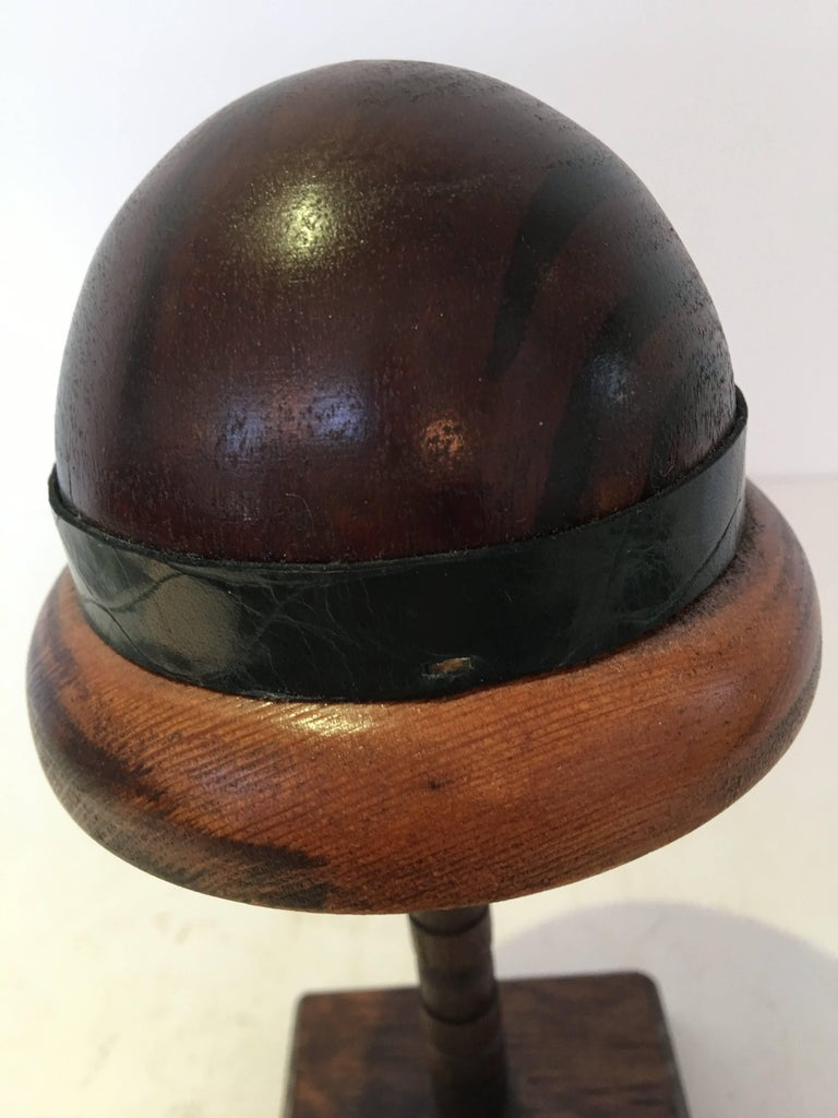 20th Century English Wood Doll Hat Mold For Sale