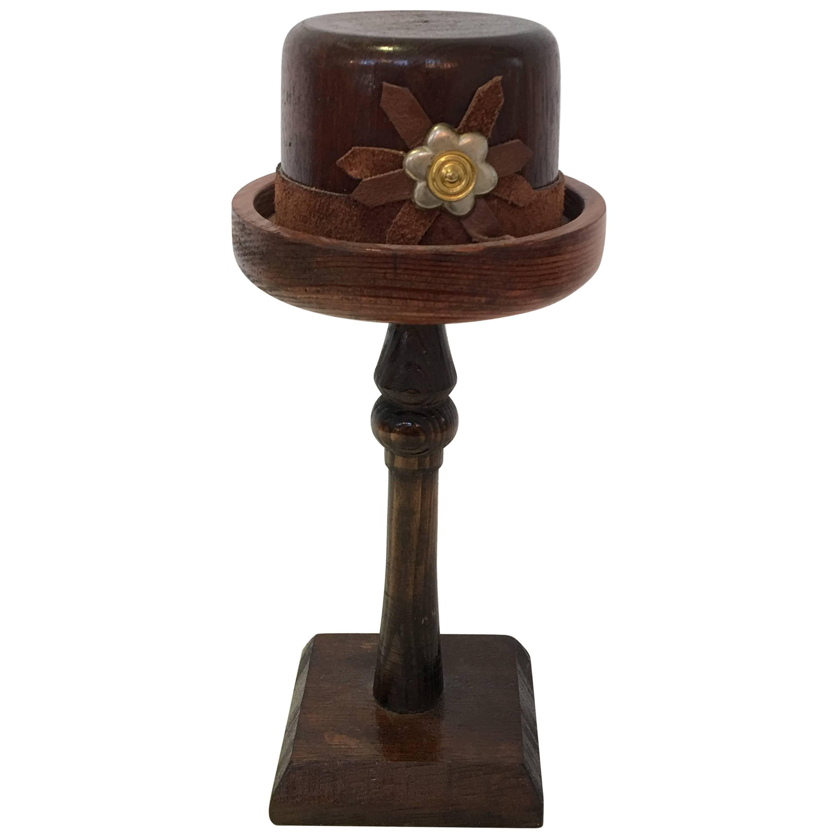 English Wood Doll Hat Mold