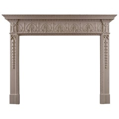 English Wood Fireplace in the George III Style