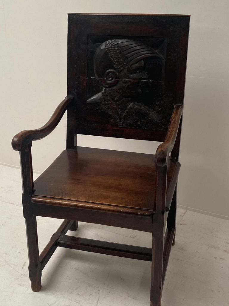British English Wooden Chair, 17th Century For Sale