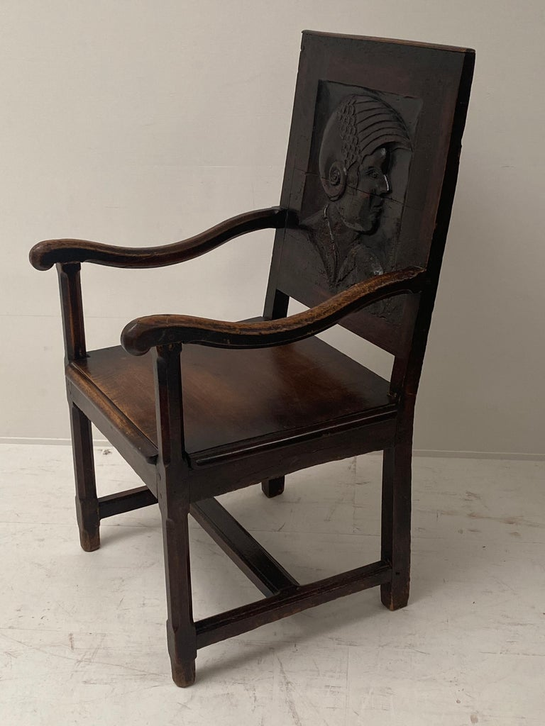 18th Century and Earlier English Wooden Chair, 17th Century For Sale