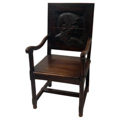 English Wooden Chair, 17th Century